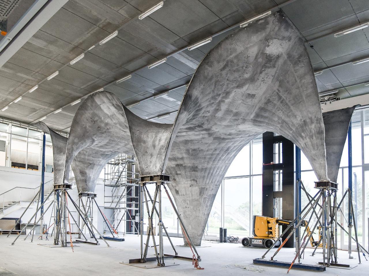 Ovaj zakrivljena betonska ljuska debela je svega 3 centimetara
