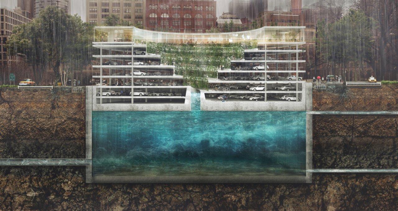 Zgrada koja rešava problem poplava, parkinga i manjka zelenila u gradovima
