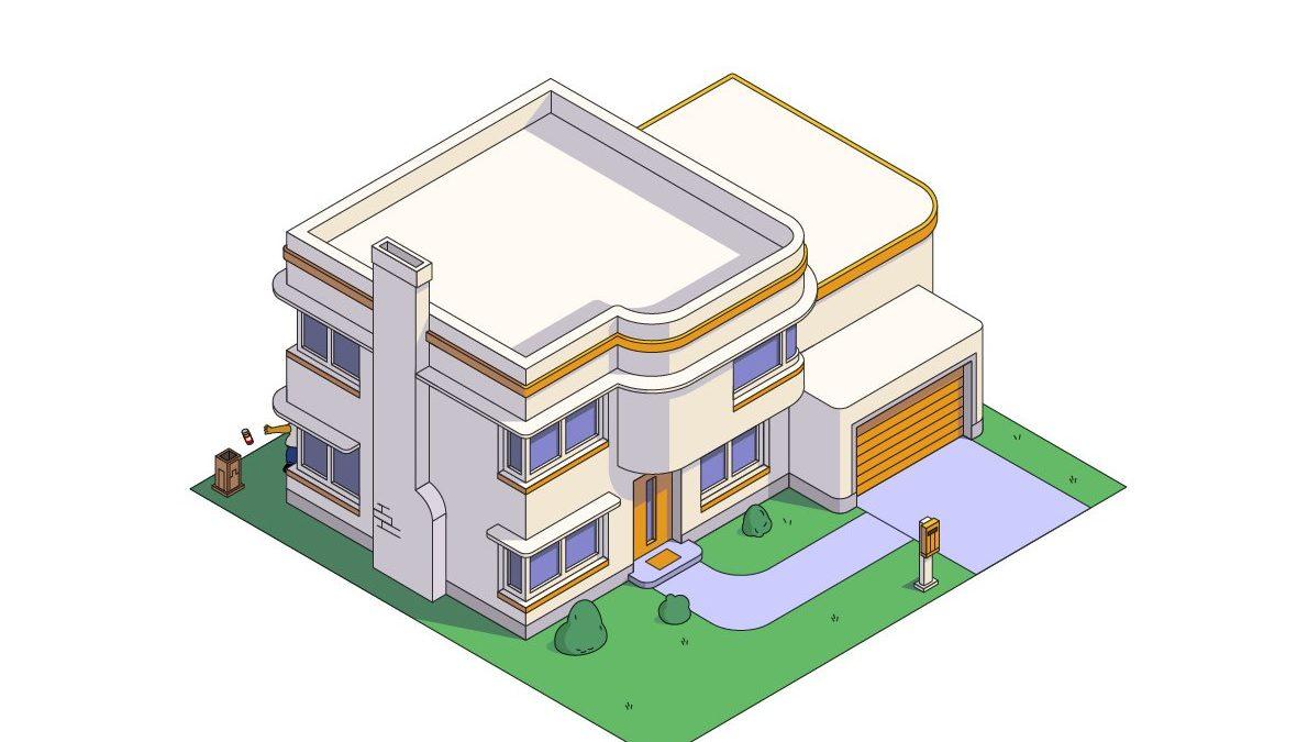 Kako bi kuća Simpsonova izgledala u poznatim arhitektonskim stilovima
