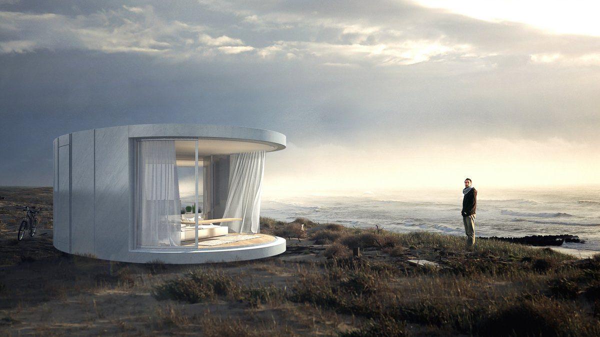 Zakrivljena staklena klizeća vrata za nove arhitektonske forme