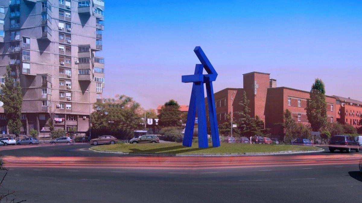 Tripod kod Bogoslovije: Šta predstavlja vizantijsko plava skulptura Koste Bogdanovića