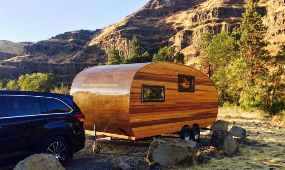 Drvena kamp kućica za potpuni sklad s prirodom