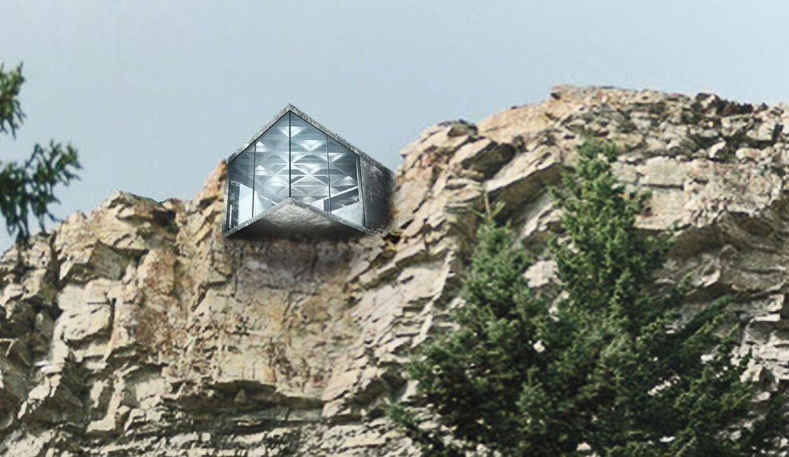 Konzolna betonska kuća gradi se za potrebe snimanja reklame