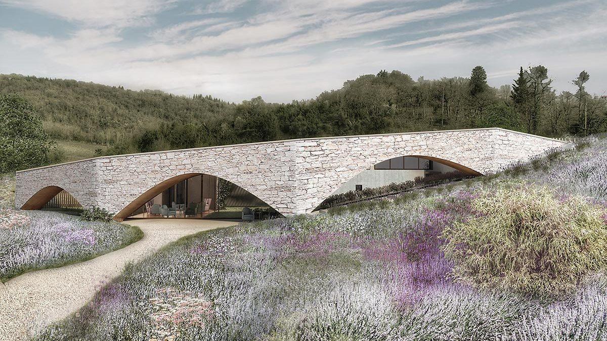 Vinarija u Toskani skrivena iza kamenog vijadukta