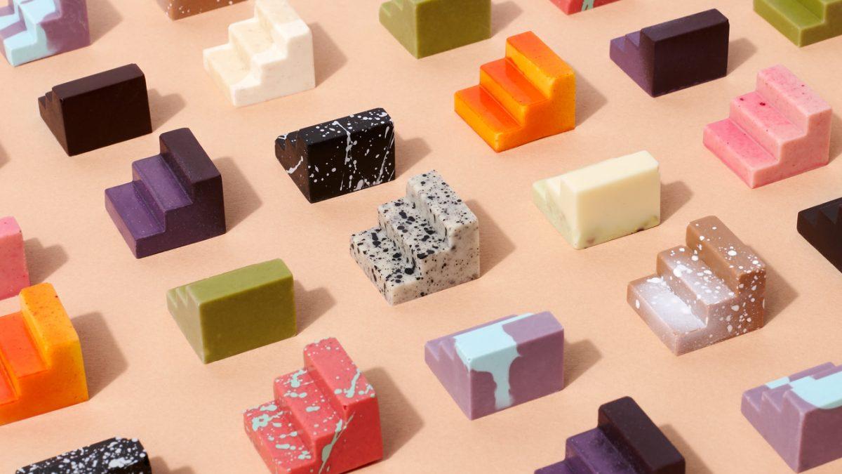 Jestive arhitektonske forme napravljene od čokolade