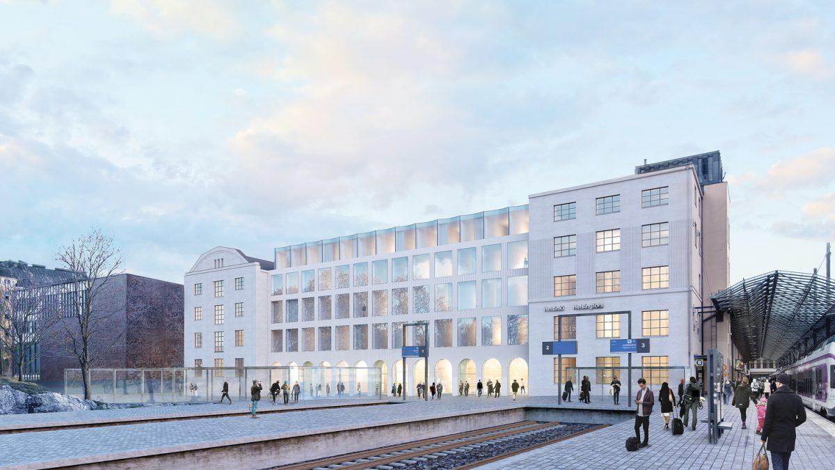 Projekat pretvaranja dela železničke stanice u Helsinkiju u hotel