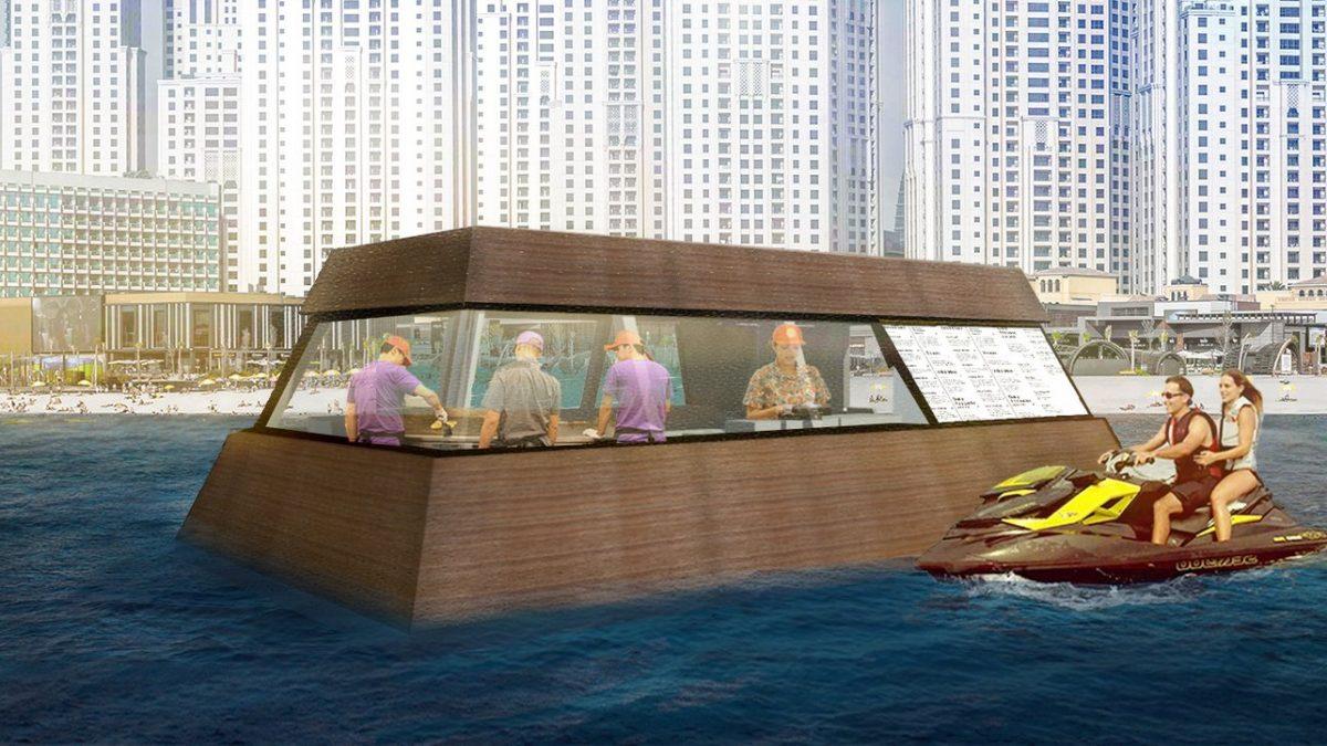 Pogledajte kako izgleda kuhinja koja pluta na površini mora