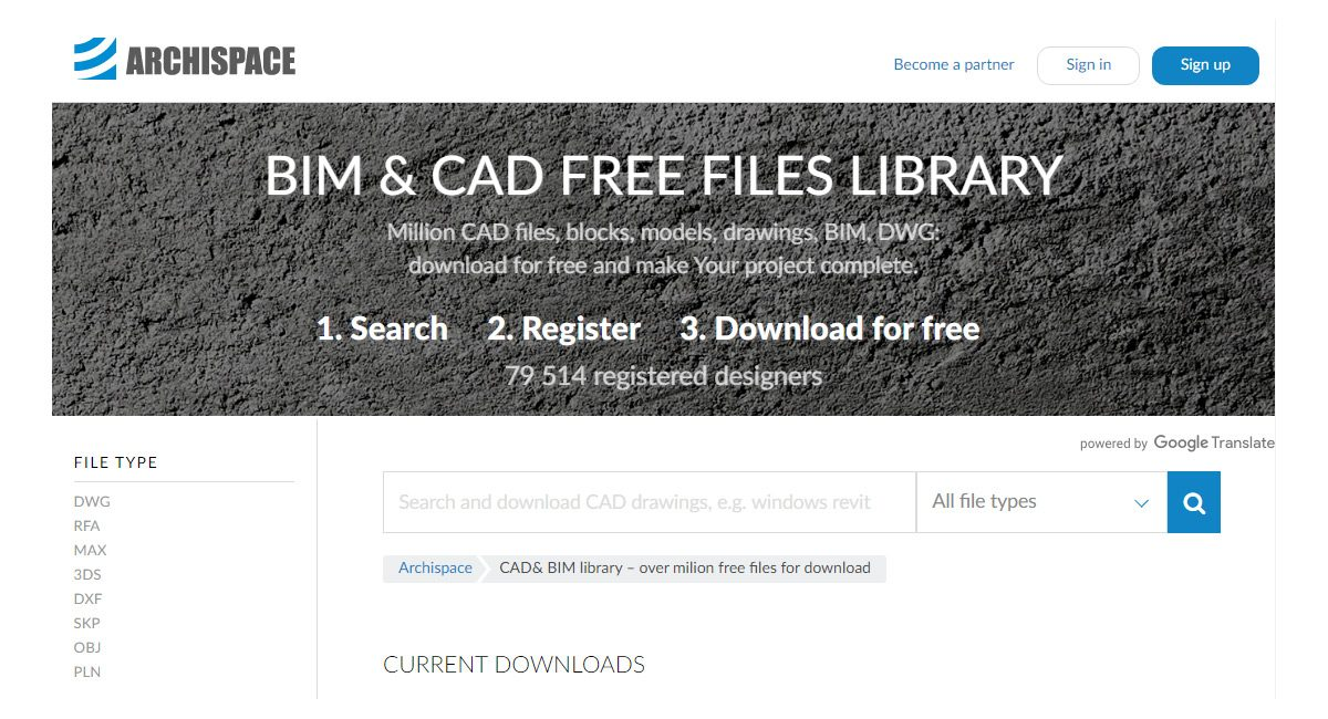 Archispace: Besplatna baza CAD crteža i BIM objekata