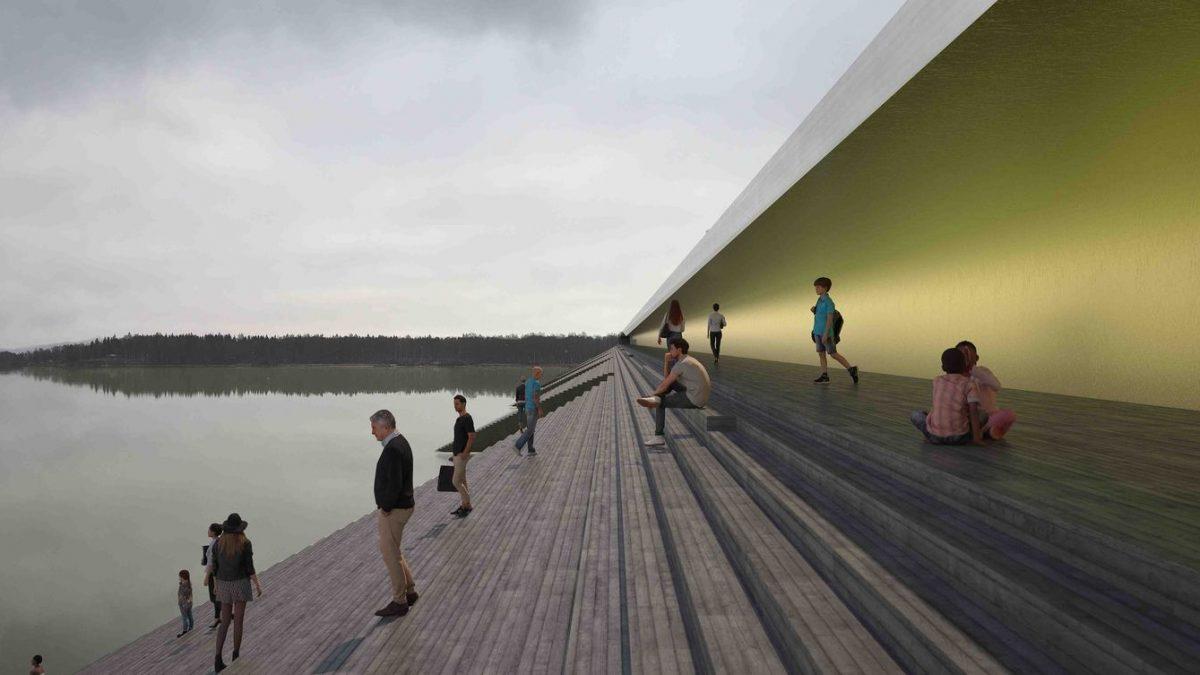 Most u Švedskoj koji obalu reke pretvara u javni amfiteatar