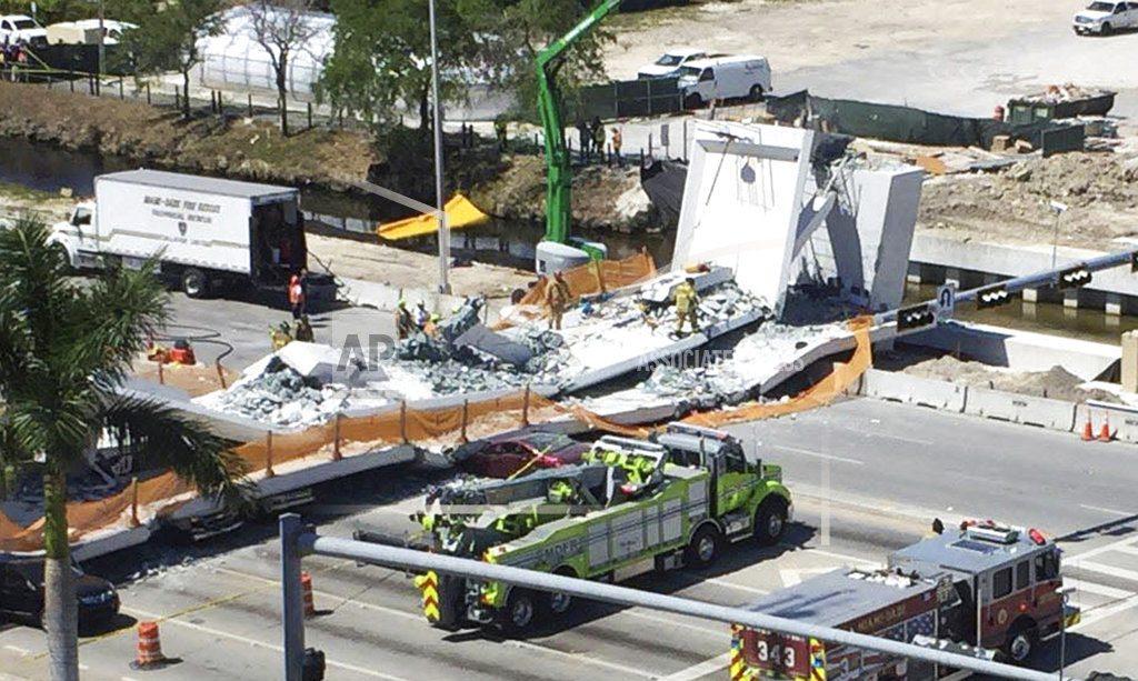 Srušio se pešački most u Majamiju završen pre nedelju dana