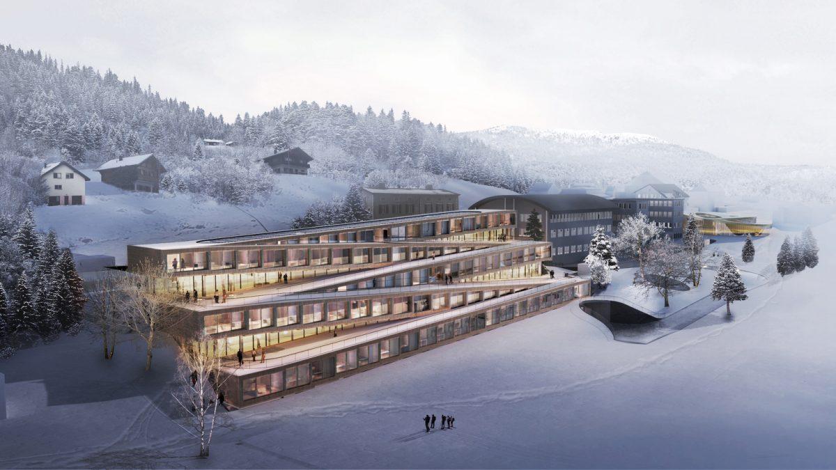 BIG predstavio cik-cak hotel na čijem krovu se može skijati