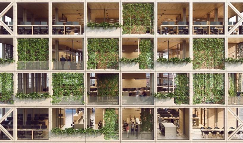 Zelena fasada poslovnih prostora namenjena milenijalcima