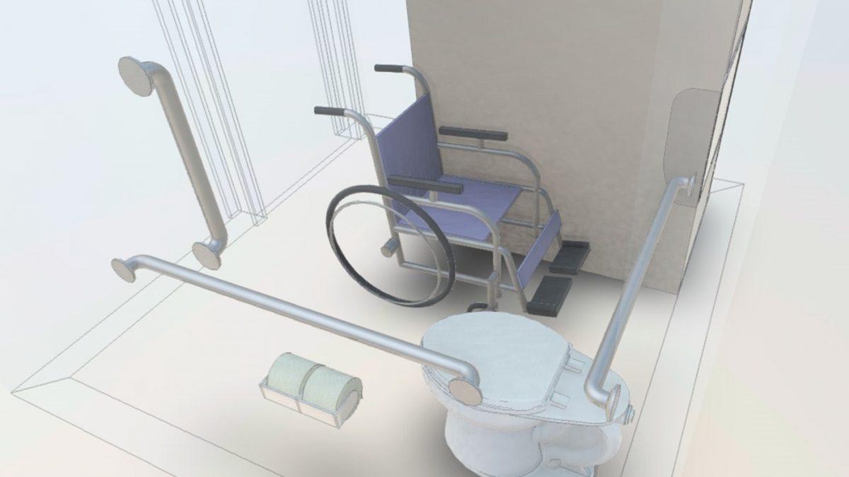 Preuzmite Revit model toaleta za osobe s invaliditetom