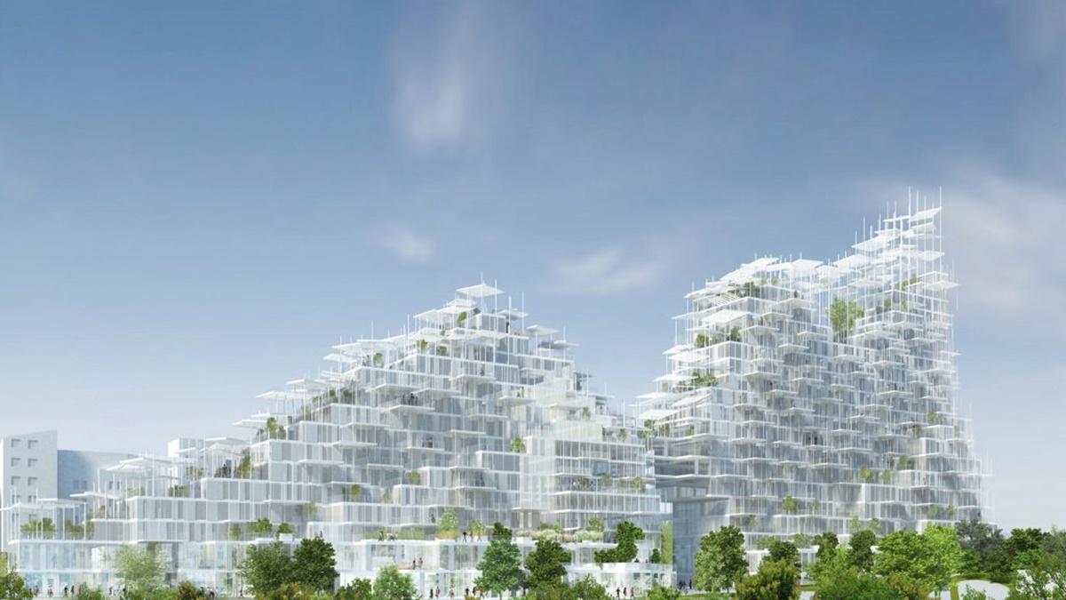Pariz dobija prvo vertikalno selo: Nepravilni balkoni prožeti šumom belih stubova