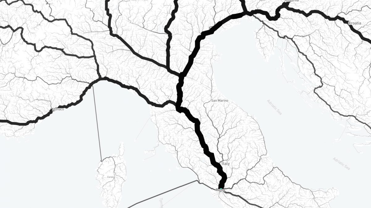 Izgleda da svi putevi zaista vode u Rim