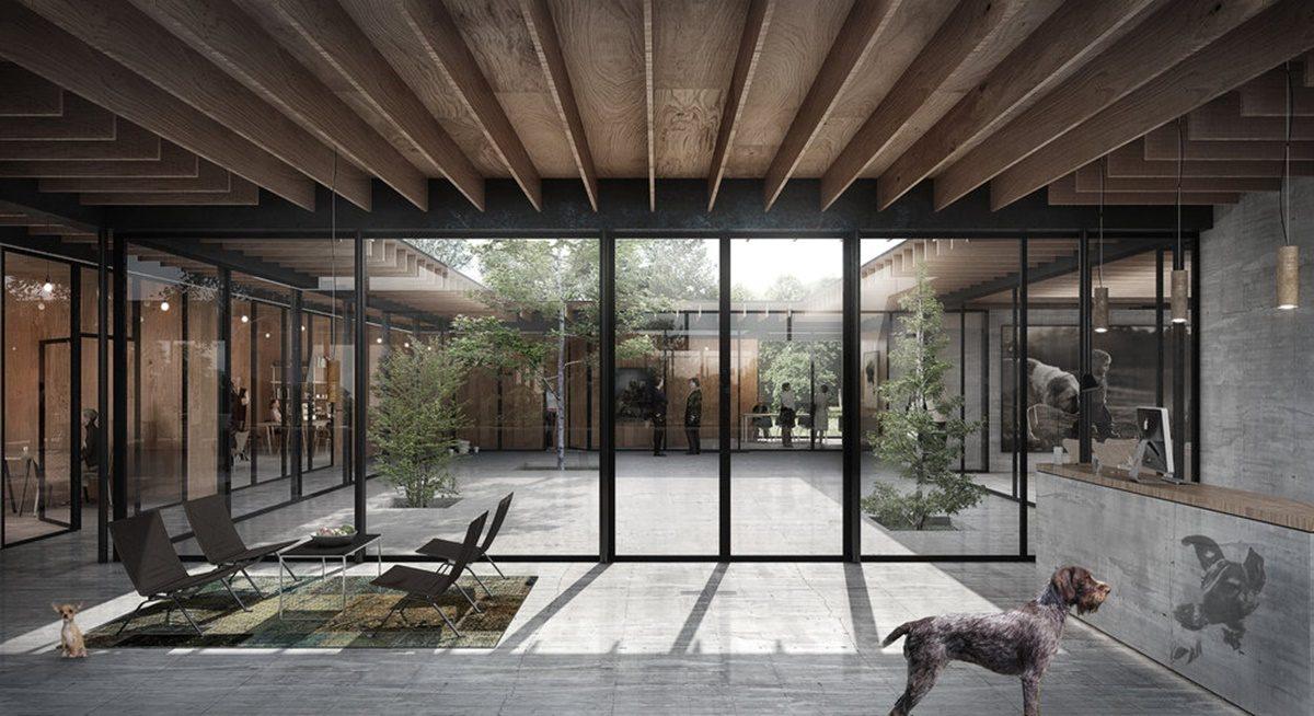 Dizajn ovog centra nudi alternativu za klasičnu arhitekturu azila za pse