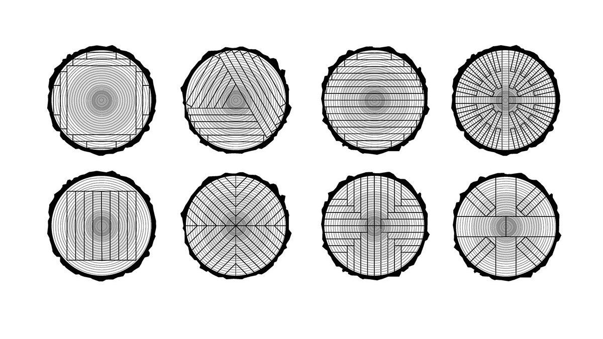 Ovako se seku debla da bi se dobili različiti izgledi dasaka