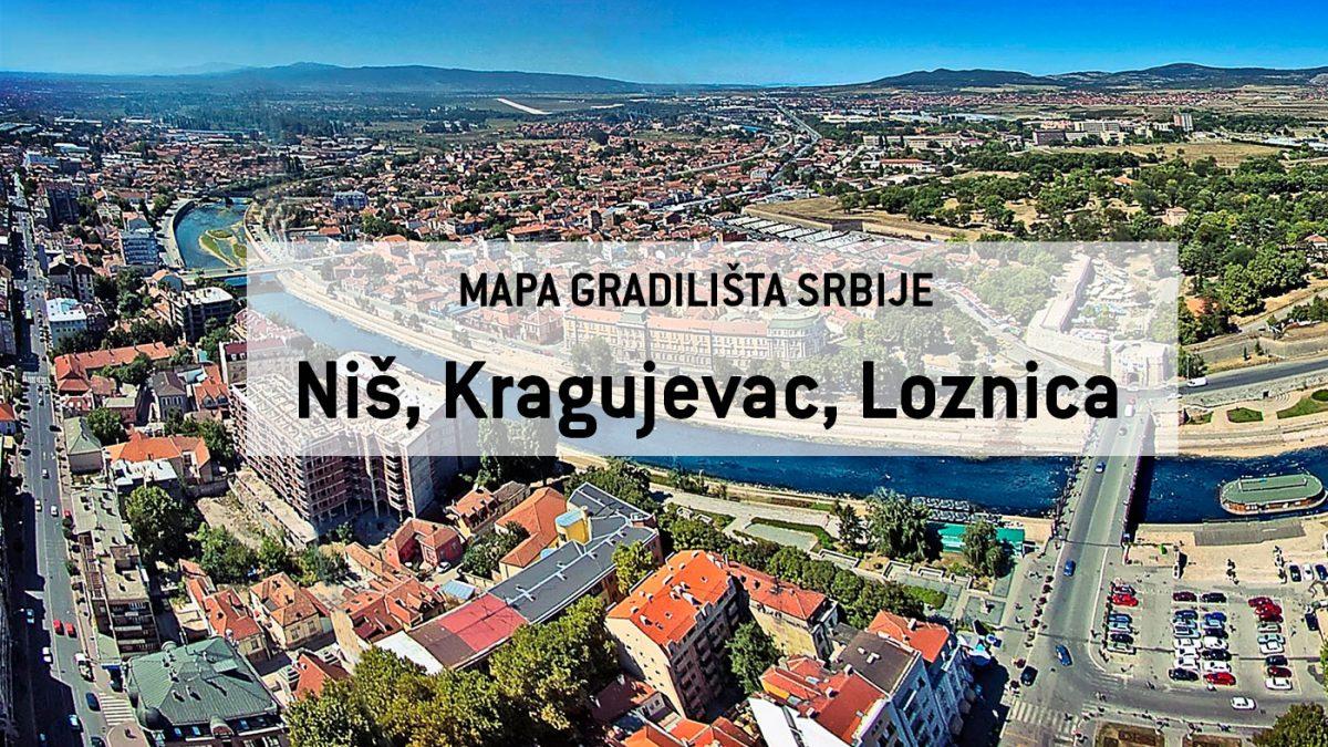 Mapa gradilišta Srbije proširena na Kragujevac, Niš i Loznicu