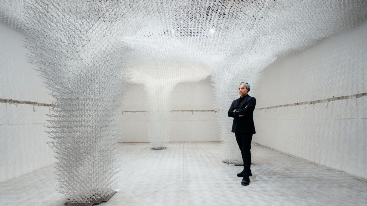 Komšijska pergola od 3D štampanog oblaka