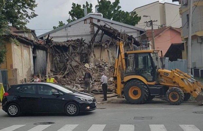 Srušena kuća Đure Jakšića u Kragujevcu