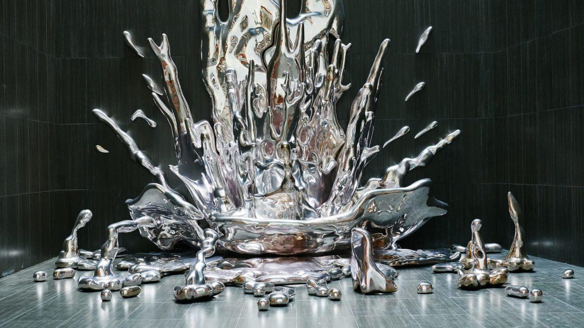 Dramatični vodopad od metala zapljuskuje madridski hotel