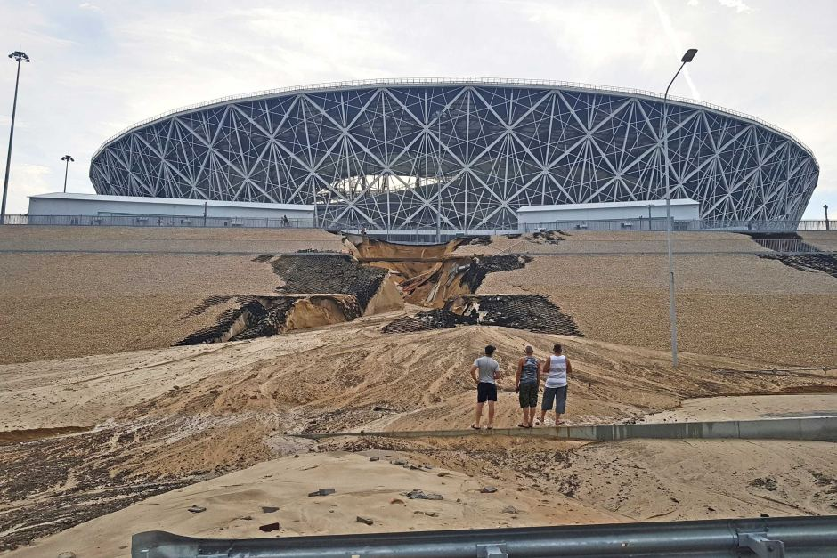 Poplave oštetile stadion Volgograd Arena u Rusiji