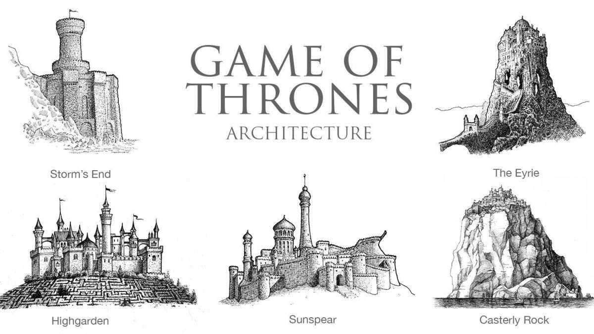Igra prestola, Hari Poter, Marvel: Skice građevina iz čuvenih filmova fantastike