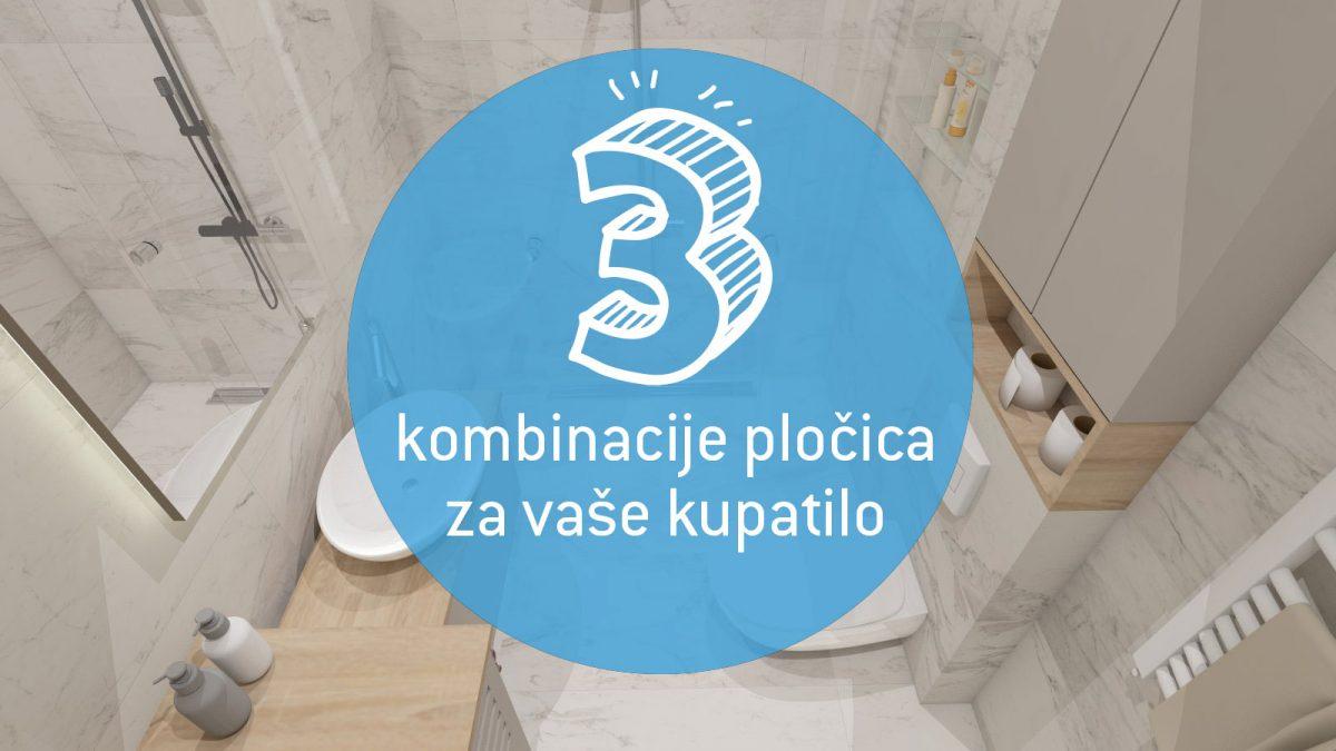 Kako izabrati prave pločice za kupatilo: Predlažemo tri dobre kombinacije