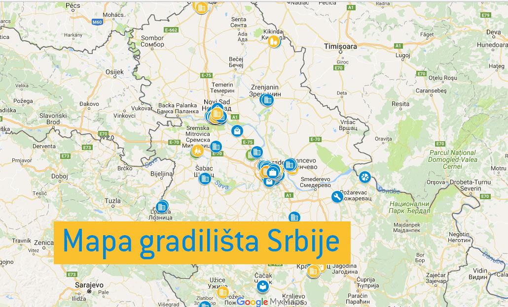 Mapa Gradilista Gradnja