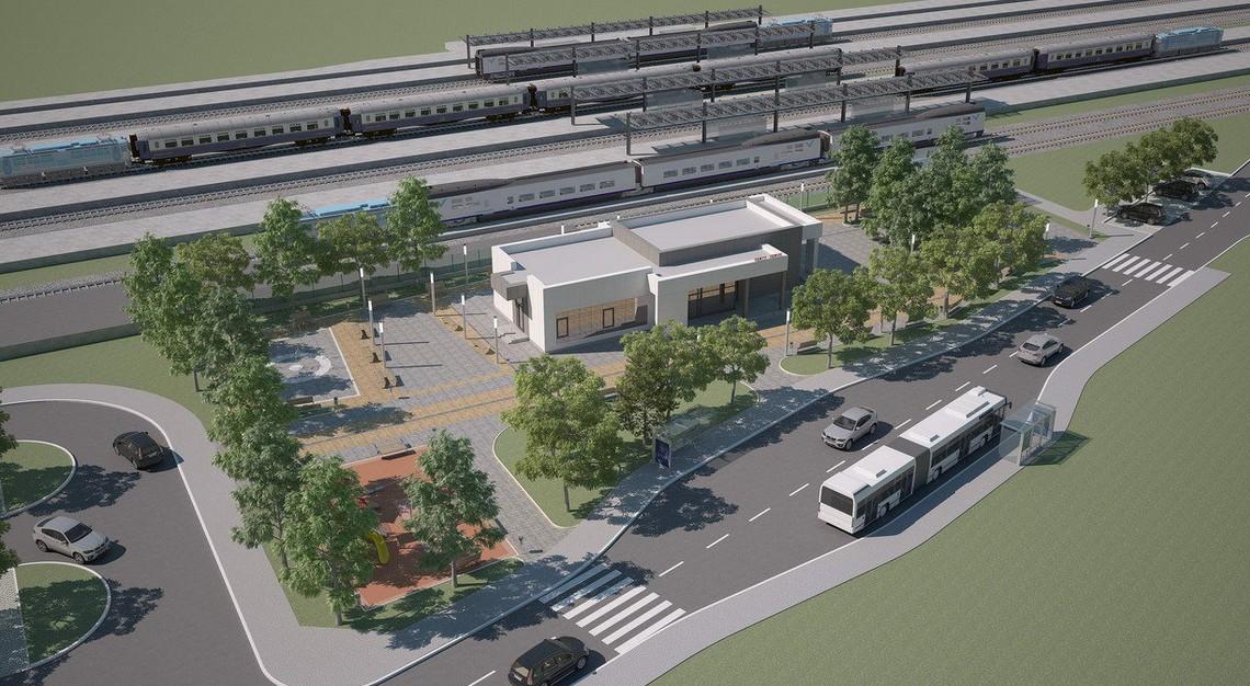 Stanica Zemun 1: Planirana je izgradnja potpuno novih staničnih zgrada u Zemunu i Batajnici, dok su stanice u Zemun polju, Staroj i Novoj Pazovi planirane za rekonstrukciju; foto: CIP/Beobuild