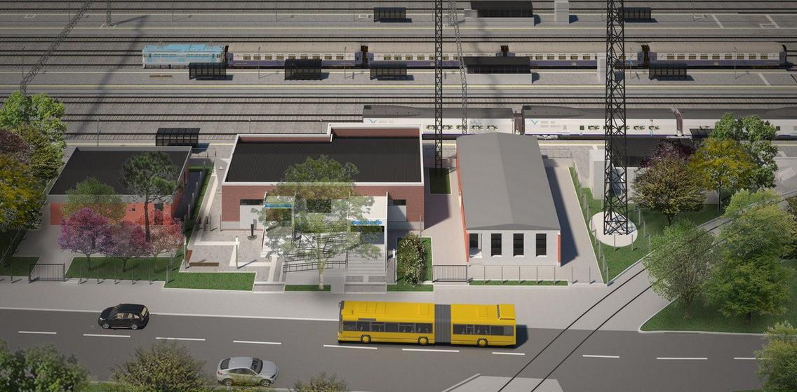 Stanica Batajnica 1: Izlaskom iz Beograda povećava se razmak među stanicama, pa je od stanice Batajnica do stanice Nova Pazova projektna brzina 200 km/h na putničkim kolosecima i 120 km/h na kolosecima namenjenim za saobraćaj teretnih vozova; foto: CIP/Beobuild