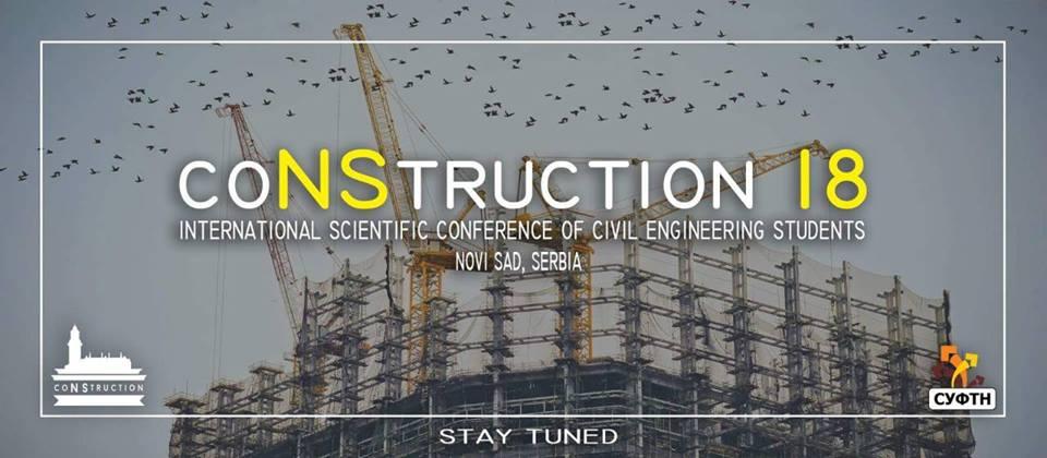 CoNStruction 18: Prijavite se za međunarodnu konferenciju studenata građevinarstva