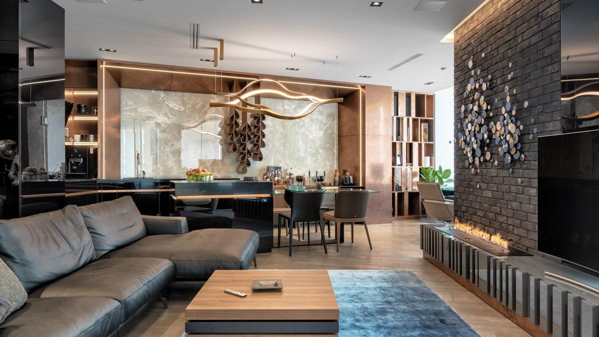 Kako su tamni tonovi i kvalitetni materijali dali dvosobnom stanu luksuzan izgled