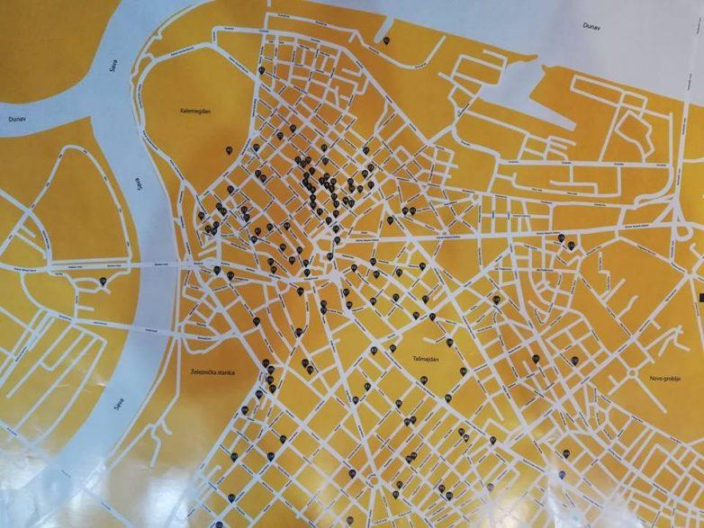 ... prikazan na mapi