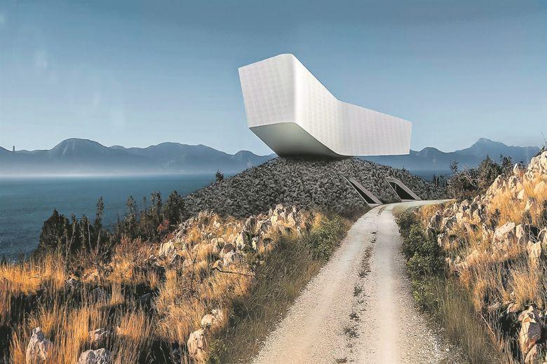 Na Jadranu niče kuća u obliku galeba po projektu Davora Matekovića