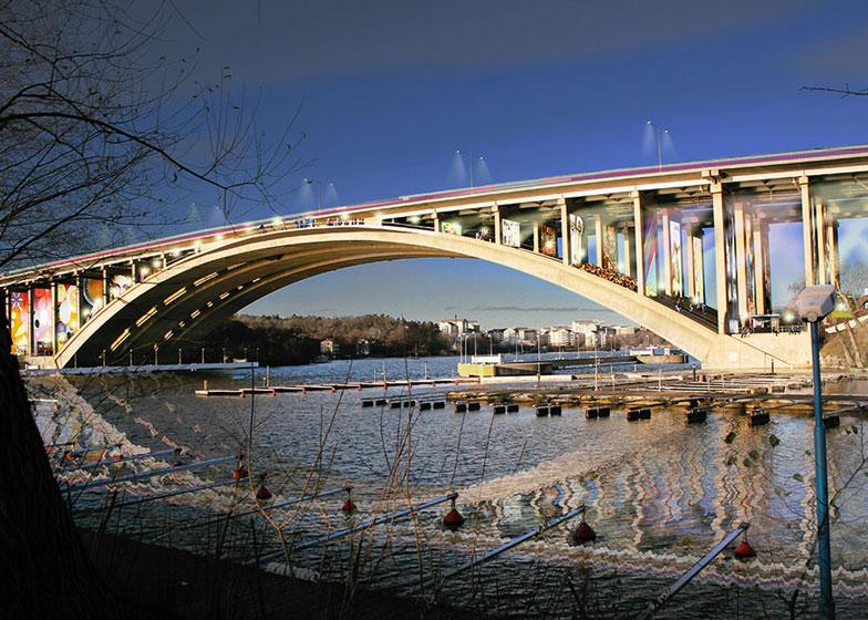 Redizajn starog mosta u Stokholmu uključuje bioskop i šetalište unutar svodova