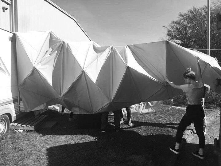 Astronauti će na Marsu i Mesecu živeti u origami šatorima od tekstila?
