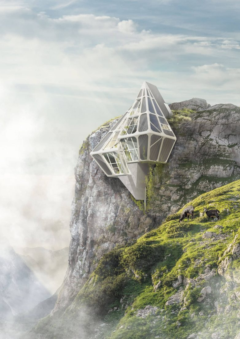 Kuća se simbiotički povezuje s prirodom u okruženju