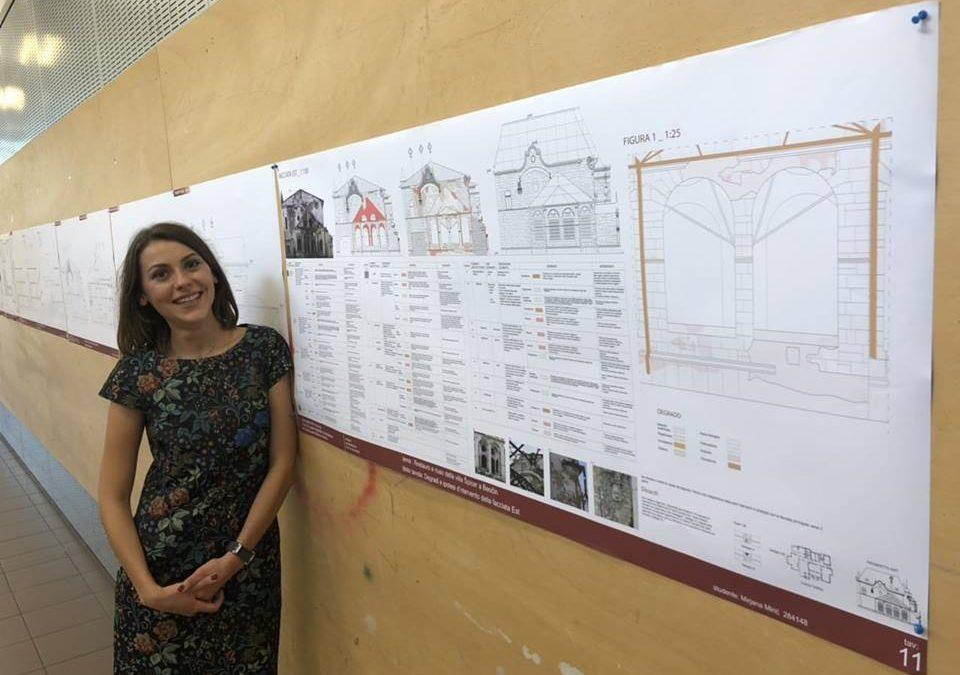 Naša studentkinja u Italiji predstavila predlog rekonstrukcije devastiranog dvorca u Beočinu