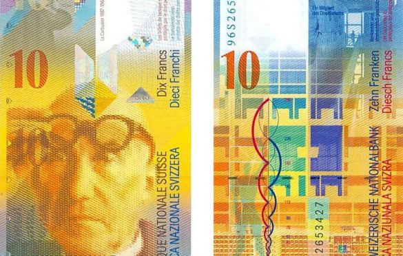 Le Korbizje na aktuelnom švajcarskom franku