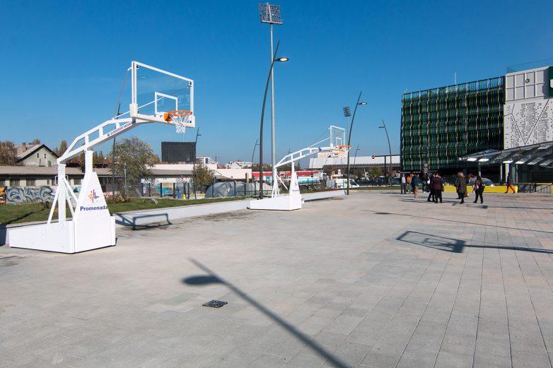 Ispred Promenade su otvorena tri terena za basket