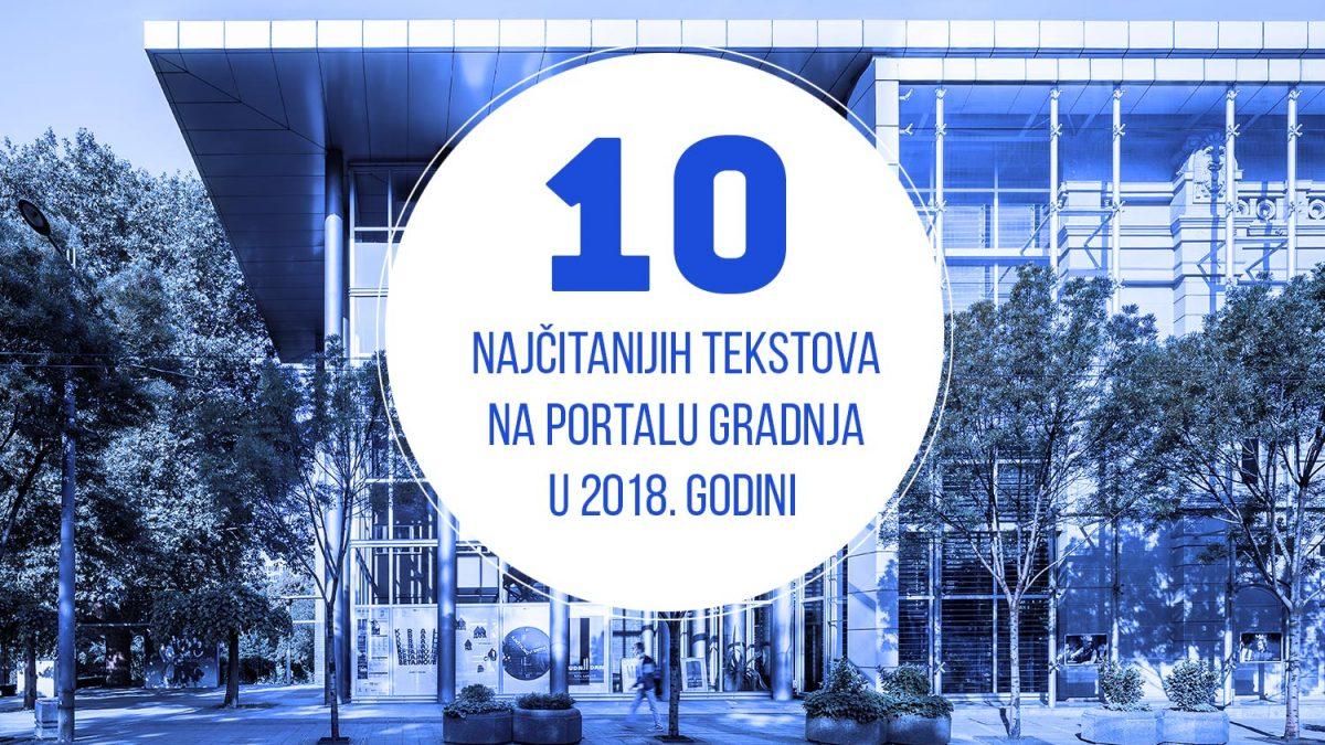 10 najčitanijih tekstova na portalu Gradnja.rs u 2018. godini