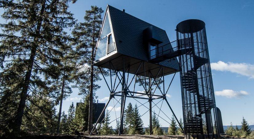 Ova futuristička brvnara u srcu norveške šume čuva okolno drveće od oštećenja
