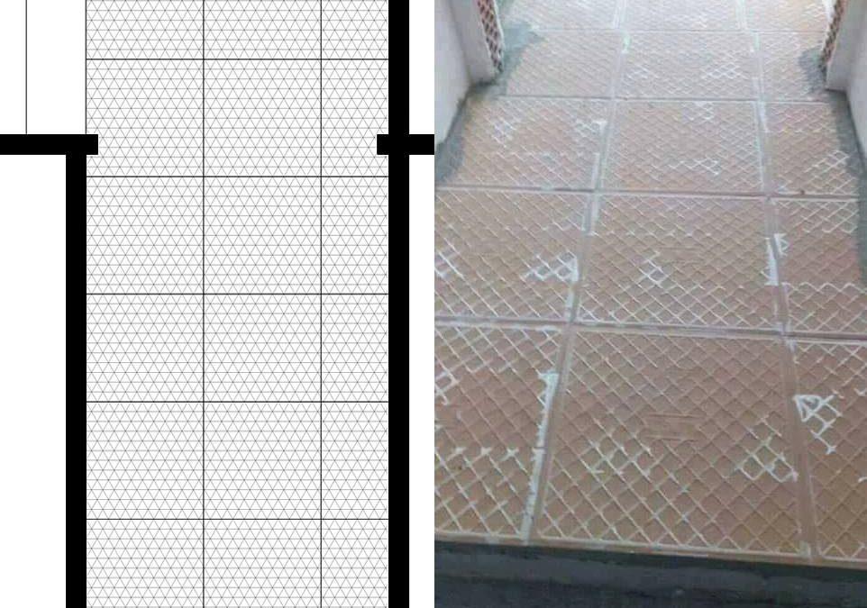 Ove pločice zalepljene su baš onako kako je arhitekta nacrtao