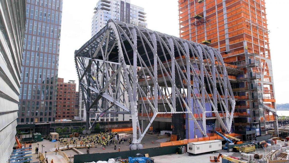 Kretanje čelične ljušture njujorškog centra Shed premijerno zabeleženo na kameri