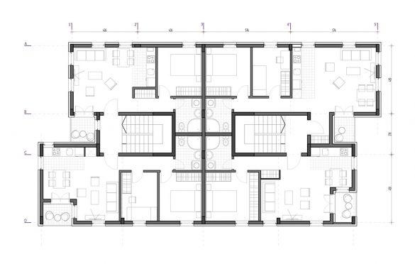 Tipska etaža objekta B
