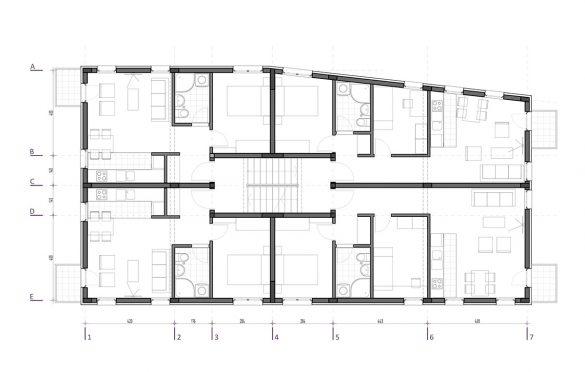 Tipska etaža objekta D
