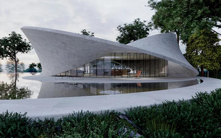 Matematika i arhitektura: Betonska kuća s fasadom u obliku Mebijusove trake