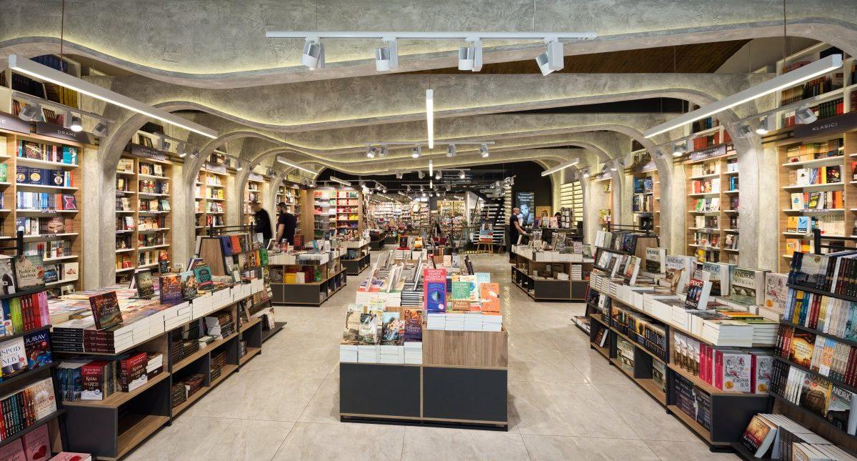Enterijer knjižare Laguna u Knez Mihailovoj ulici / Proambo