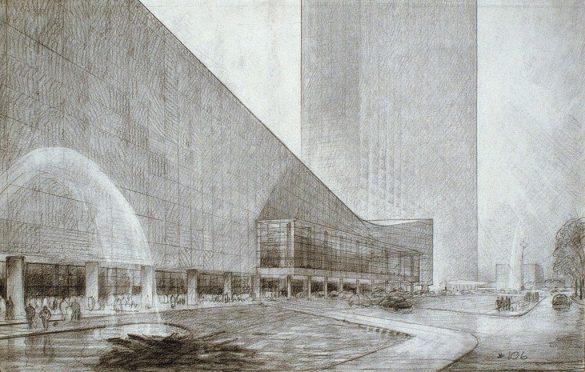 Crteži idejnog projekta za kompleks UN-a